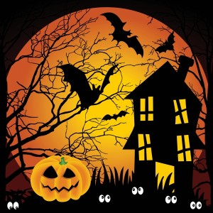 4054137-halloween-night-haunted-house-with-bats-and-pumpkin
